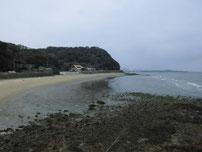 蓑島海水浴場 左側砂浜の写真