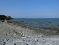 浜の宮海岸 左側の砂浜 の写真