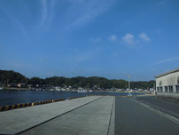 特牛漁港 漁港内の写真
