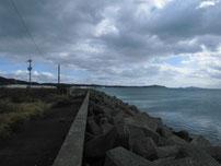 大喜漁港 左側の護岸 の写真