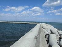 苅田南防波堤 波止手前側の写真