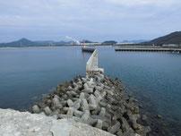西浦漁港 外波止先端付近の写真