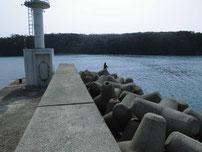 萩港 波止外側の写真