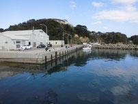 岩屋漁港 港内の護岸の写真
