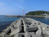 島戸漁港 外波止の写真
