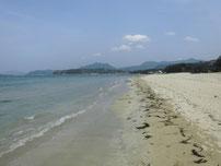 菊ヶ浜海水浴場 砂浜の写真