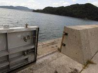 松島の地磯 護岸の写真
