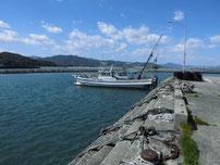 蓑島漁港 短波止 の写真
