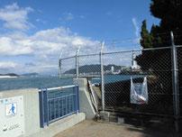 赤坂海岸 右側 立入禁止 の写真