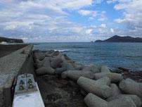 黄波戸漁港 道路沿いの写真