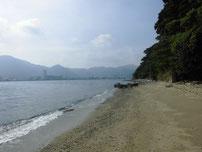 彦島南公園下海岸 砂浜の写真