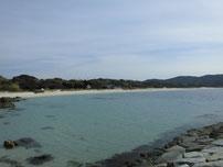 土井ヶ浜 右側の砂浜の写真