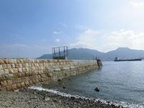 彦島南公園下海岸 波止の写真
