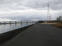 厚東川 左岸河口付近の写真