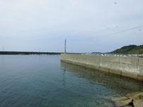 角島 元山港 波止の付け根付近の写真