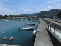 須佐漁港 港内の写真