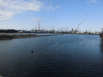 境川河口 橋からの写真