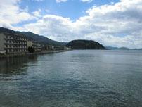 水産大学校前の波止と永田川の間の写真