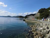 通漁港 波止の横の写真