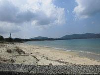 涌田漁港 横の砂浜の写真