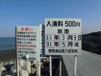 西八田漁港 看板の写真
