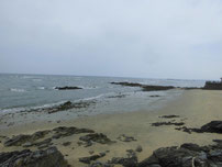 蓑島海水浴場 中央付近の写真