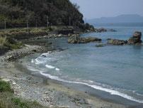 尾ヶ崎 地磯 砂浜の写真