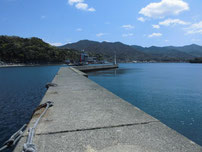 越ケ浜漁港 右側の波止の写真