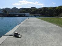 香川津の波止 内側の護岸の写真