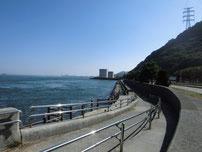 和布刈遊歩道 塩水プール前付近の写真