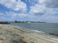 椎田漁港 砂浜の写真