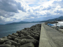 黄波戸漁港 外波止の写真