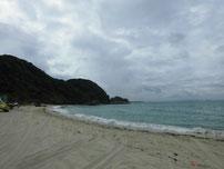 吉母 御崎手前の砂浜