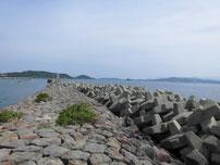角島 尾山港 外波止の写真