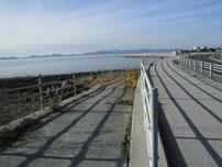 大浜岸壁 海岸へ降りるスロープの写真