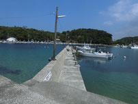 涌田漁港 内側の堤防