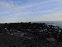 本山岬 岩場の写真
