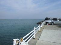 宇島港 埠頭先端付近の写真