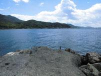 吉見 古宿町の波止 先端付近の写真