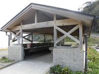 二位の浜海水浴場 炊事場の写真