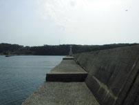 萩港 波止内側の写真