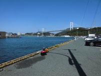 門司区東港の波止 の写真