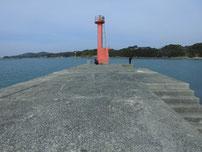 和久漁港 外波止・先端付近の写真
