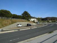 大浜岸壁 車の駐車場所の写真