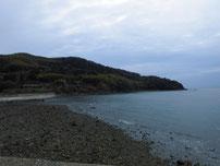 中浦漁港 左側 ゴロタ場 の写真