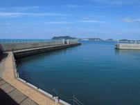 福間漁港 南防波堤 内側