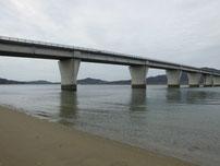 佐波川河口 防府新大橋 の写真
