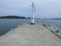 角島 尾山港 外波止・先端付近の写真