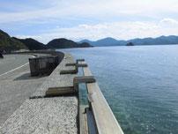 通漁港 奥の道路沿い釣り場の写真
