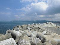 川棚漁港 外波止・中間辺りの写真